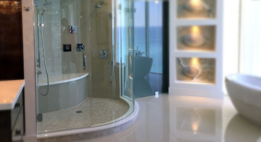 Custom Cut Glass Shower Door