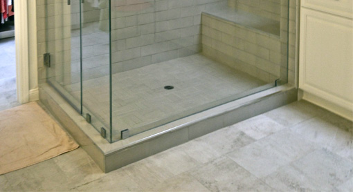 Custom Cut Glass Shower Enclosure